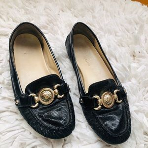 Ann Klein Black Leather Loafers